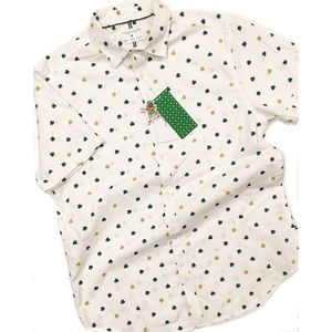 ☘️ Denim & Flower Lucky Clover Shamrock Shirt NWT